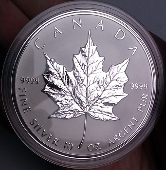 10 troy ounce Maple Leaf uit 1989